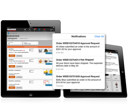 Grainger iPad App Order Management
