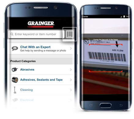Grainger Mobile Barcode Scanner