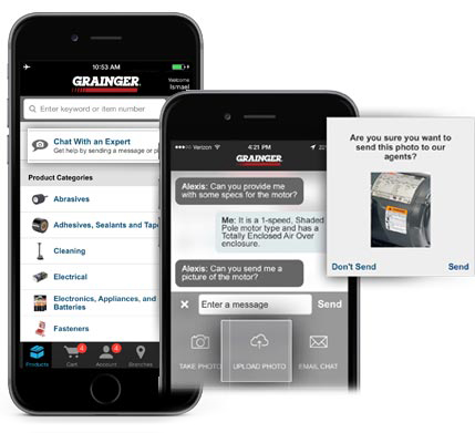 Grainger Mobile Chat With an Expert