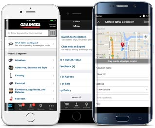 Grainger mobile anytime anywhere