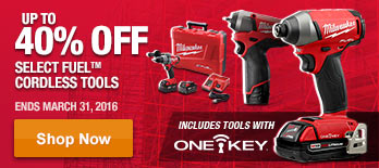 Up to 40% off on All FUEL Cordless Tools