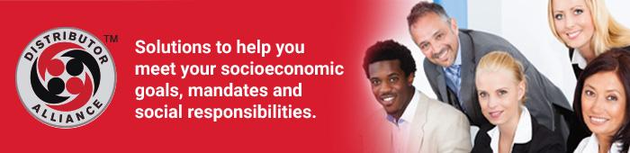 solutions to help meet your socioeconomic goals, mandates and social responsibilities