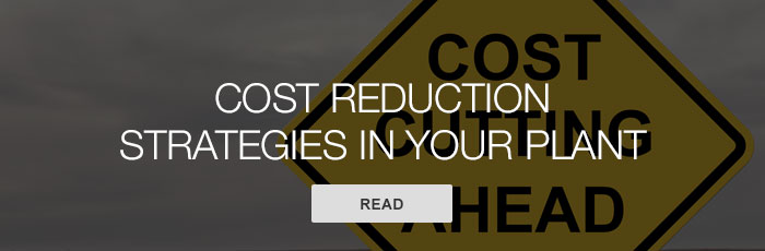 Cost reduction strategies in your plant