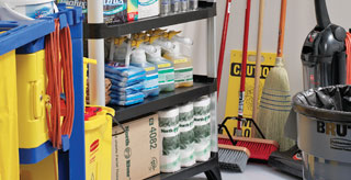 Storing Cleaning Tools and Supplies