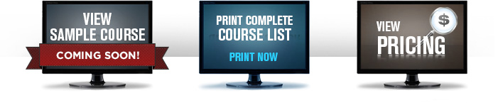 OSHA Sample Course Course List and Pricing