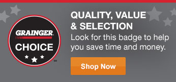 Quality, Value & Selection - Look for this badges to help you save time and money.