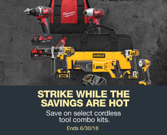 Cordless tool combo kit savings