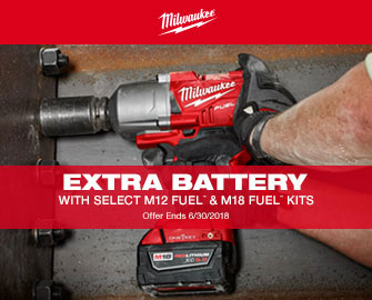 EXTRA BATTERY with Select M12 FUEL and M18 Fuel Kits.