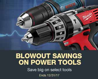 Select power tools on sale