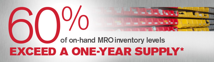 60% of on-hand MRO Inventory levels.
