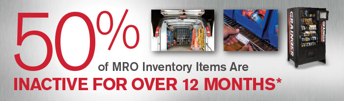 50% of MRO Inventory Items Are Inactive For Over 12 Months