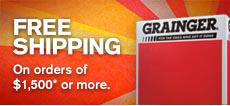 Free Shipping On orders of $1,500* or more.