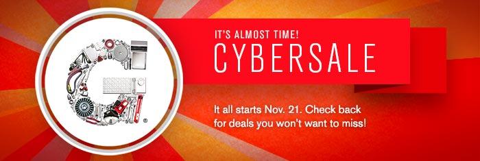Cybersale starts Nov. 21st