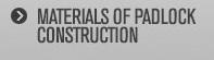 Materials of padlock construction