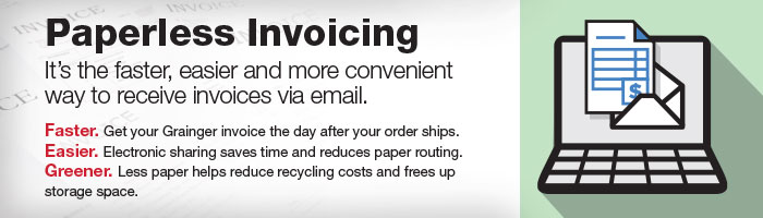 Paperless Invoicing - It is the faster, easier and more convenient way to receive invoices via email