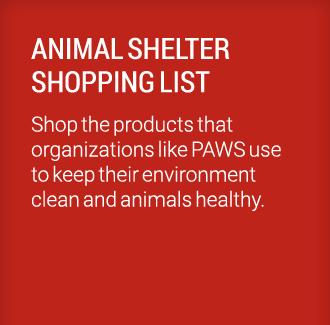 Animal Shelter Shopping List