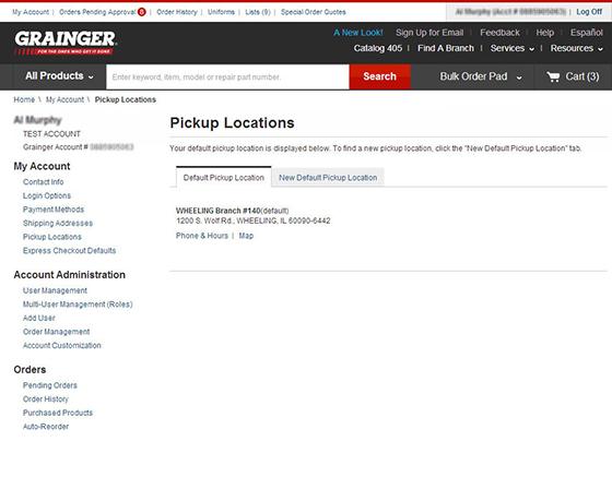 Pickup Location Grainger Industrial Supply