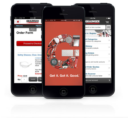Grainger Mobile Features Grainger Industrial Supplies