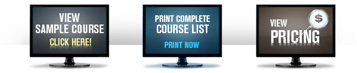 Core OSHA Sample Course Course List and Pricing
