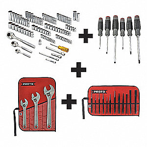 SAE, Metric Master Tool Set, Number of Pieces: 125, Primary Application: General Purpose