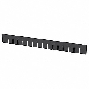 "Divider, Black, Industrial Grade Polymer, 20-1/4"" Length, 3-1/4"" Height"