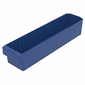 Drawer Bin,23-7/8 x 5-5/8 x 4-5/8In,Blue