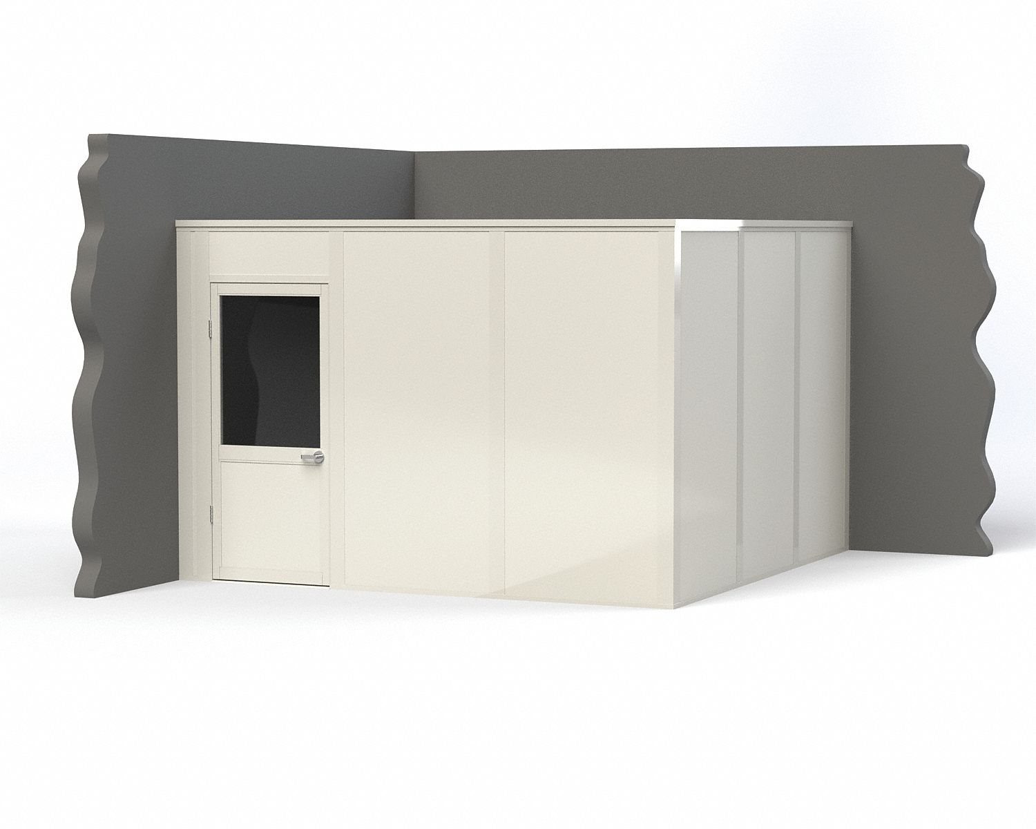 Modular In-Plant Office,  2-Wall,  12 ft. Width,  12 ft. Depth,  8 ft. Height