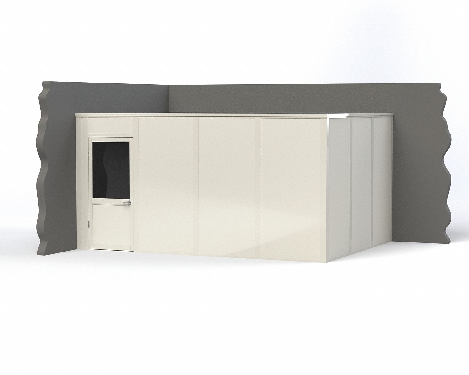 Modular In-Plant Office,  2-Wall,  16 ft. Width,  12 ft. Depth,  8 ft. Height