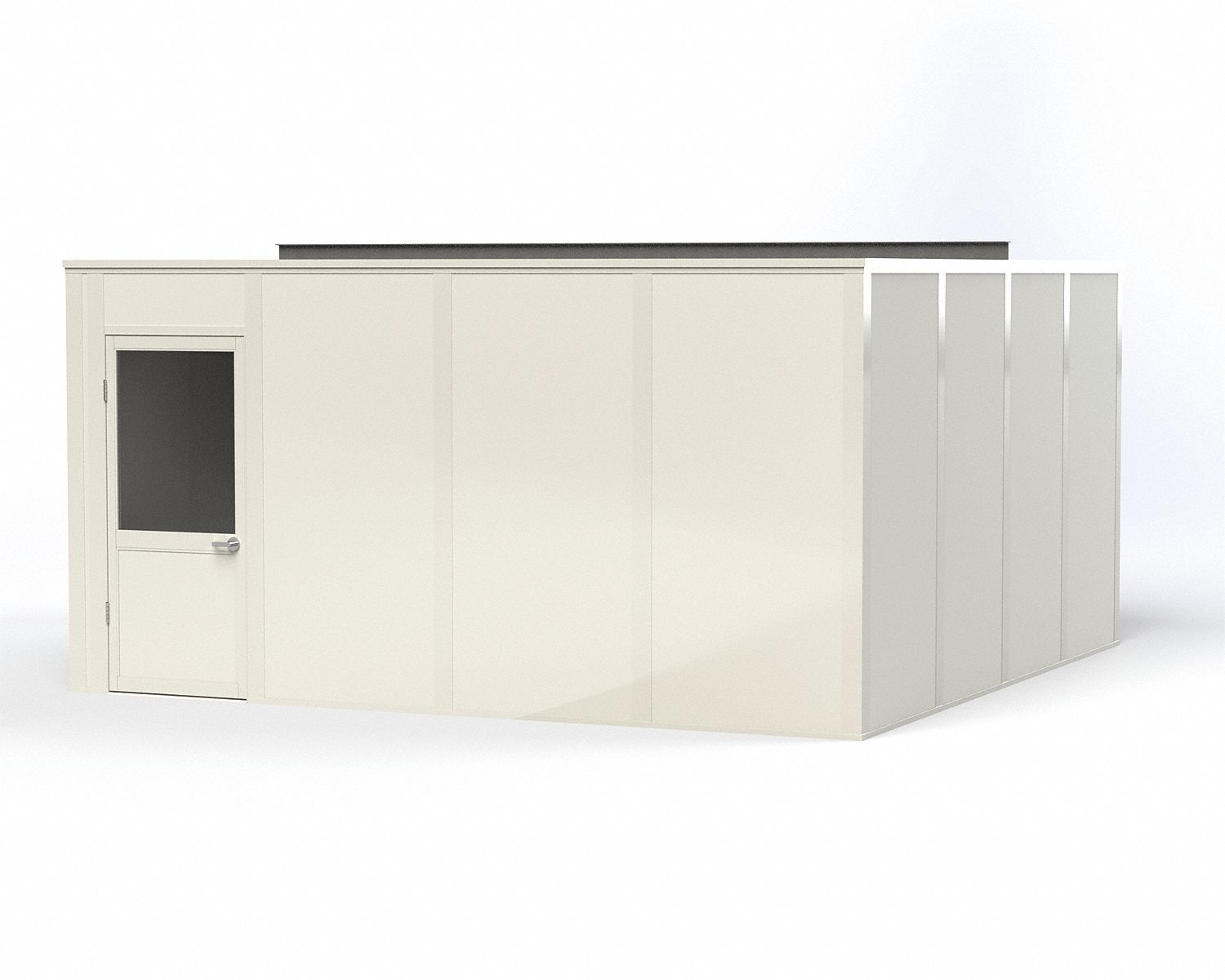 Modular In-Plant Office,  4-Wall,  16 ft. Width,  16 ft. Depth,  8 ft. Height