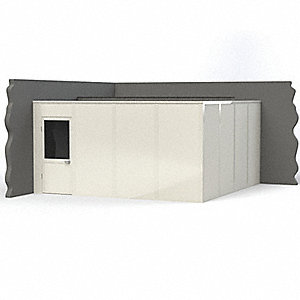Modular In-Plant Office,  2-Wall,  16 ft. Width,  16 ft. Depth,  8 ft. Height