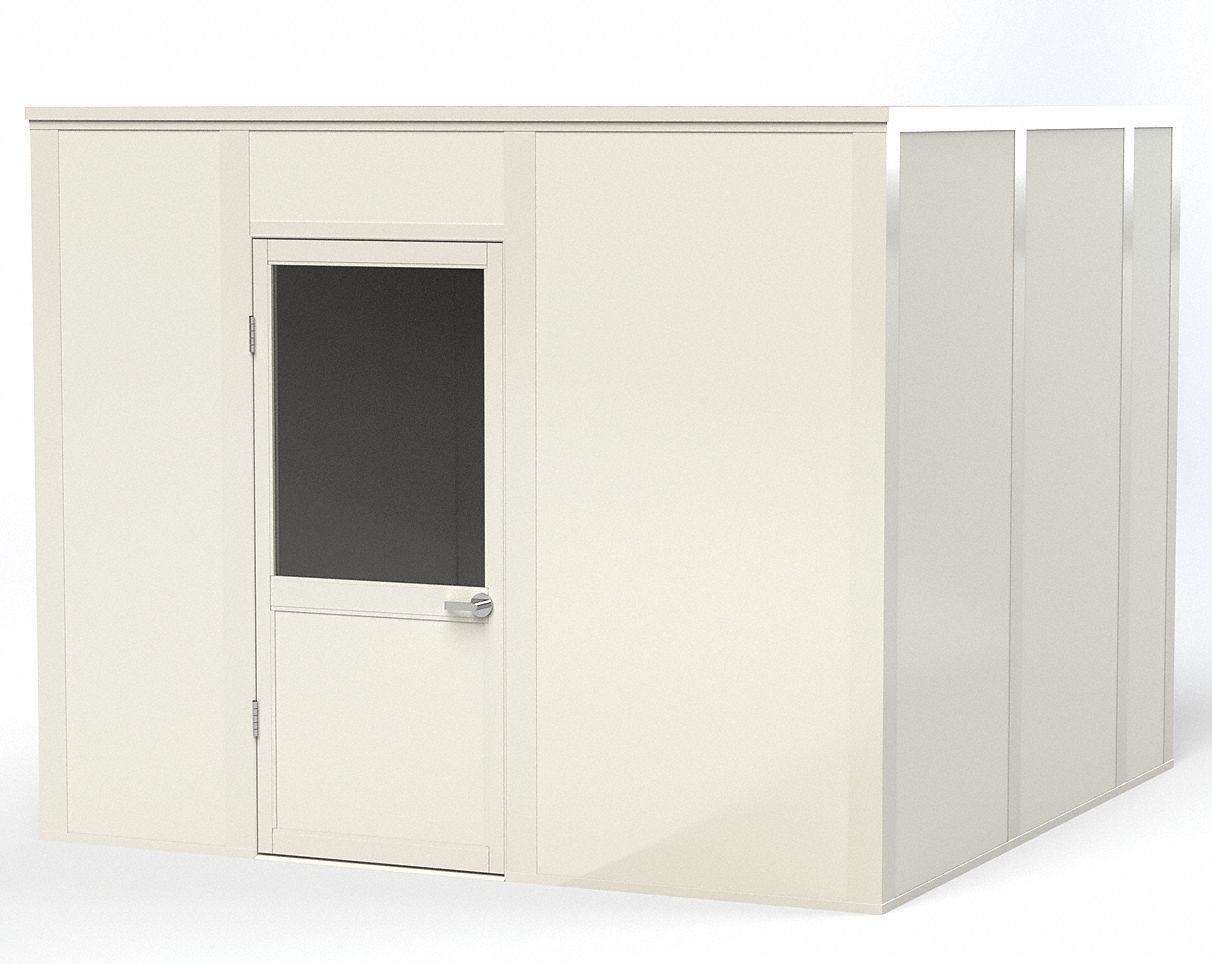 Modular In-Plant Office,  4-Wall,  10 ft. Width,  10 ft. Depth,  8 ft. Height