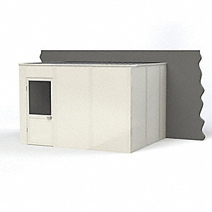 Modular In-Plant Office,  3-Wall,  12 ft. Width,  10 ft. Depth,  8 ft. Height