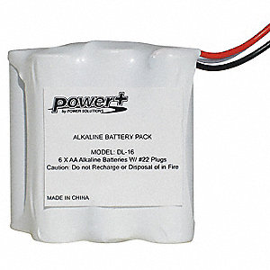 "1.75"" x 1"" Alkaline Door Lock Battery Pack; Fits Brand KABA ILCO"
