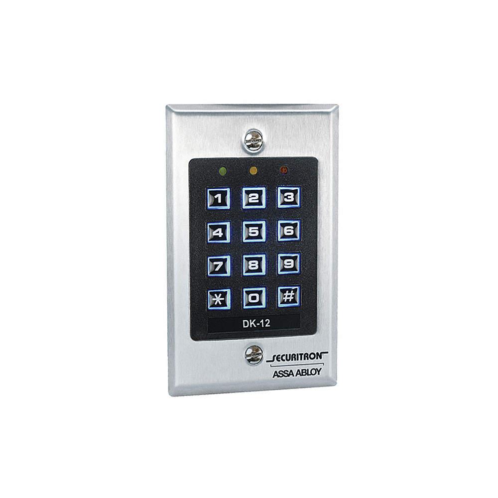 SECURITRON Digital Access Keypad,99 User Code - 10A459|DK-12 ...