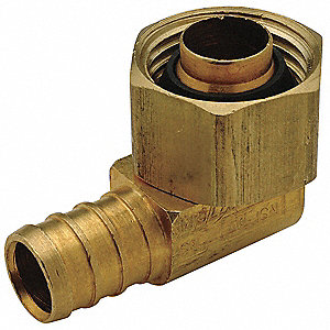 "Low Lead Brass Elbow, 90°, PEX x Female Swivel Connection Type, 1/2"" PEX Size"