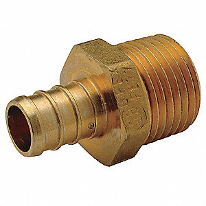"Low Lead Brass PEX and Pipe Adapter, PEX x MNPT Connection Type, 1/2"" PEX Size"