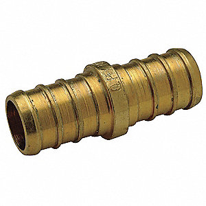 "Low Lead Brass Coupling, PEX Connection Type, 3/8"" PEX Size"