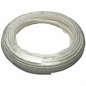PEX Tubing,White,1/8 in,100 ft,100 psi