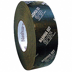 Premium Duct Tape, 48mm X 55m, 14.00 mil Thick, Black Coated Cloth, 1 EA