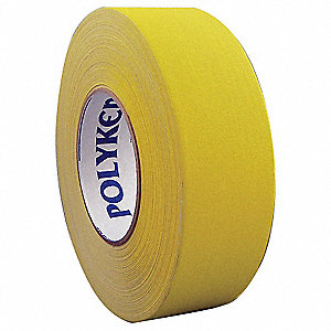 55m x 48mm PVC Coated Cloth Gaffers Tape, Yellow