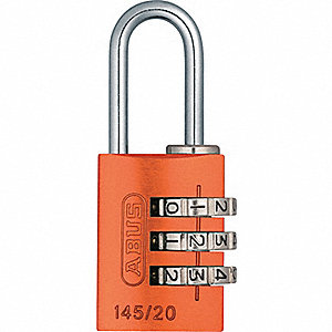 PADLOCK ALUM COMBO RESET ORANGE