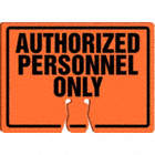 AFFICHE P/BALISE AUTH PERSONNL ONLY