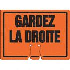AFFICHE P/BALISE GARDEZ LA DRTE