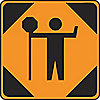 SIGN TRAFFIC FLAGMAN SYMBOL