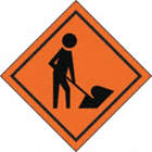 SIGNS ROLL UP MEN WORKING SYMBOL