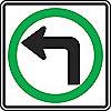 SIGN HI RFL 24INX24IN TRN LFT ONLY