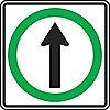SIGN RFL 24INX24IN STRGHT THR