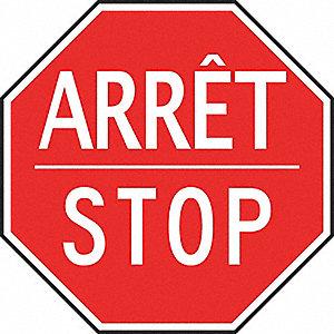 TRAF SGN HI REFL 24IN ARRET STOP