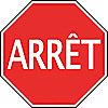 TRAF SGN HI REFL 24IN ARRET