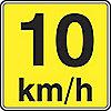 SIGN RFL 24INX24IN 10 KM/H